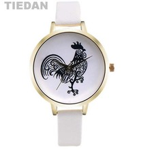 TIEDAN Brand Chinese Zodiac Chicken Pattern Quartz Wristwatches Woman Lady Quartz Watch Men & Children Wrist Watches Best Gifts(China)