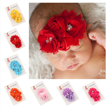 1PC Kids Head Accessories Flower Headbands Rose Headwear Kids Hair Accessories New Fashion Style Hot Sell w--052(China)