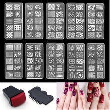 Nail Art Stamping Plates Nail Seal Manicure Polaco Printer Tool Templates Nail Stamp Stencils Nail Template Stamper Scraper