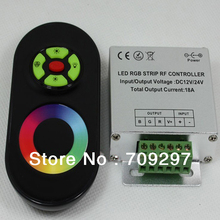 18A DC 12V/24V RF Wireless Touch RGB controller for 5050/3528 RGB LED Strip(China)