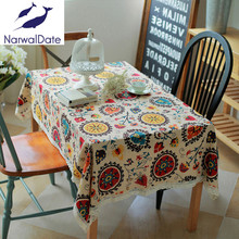 National wind explosion models cotton linen tablecloths Sun flower table cloth tablecloth Table Covers for Wedding Party Home(China)