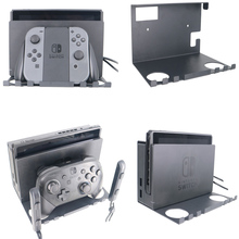 For Nintendo Nintend Switch NS Console Joy-con Switch Pro Controller NS TV Box Iron Wall Mount Stand Holder Hanging Bracket