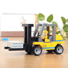 171pcs COGO Site forklift model DIY Fight inserted Building Blocks Kids Educational toys brain game toy brick gift
