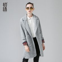 Toyouth Winter New Woolen Coat Women British Style Medium Long Coat Female Solid Thick Outwears(China)