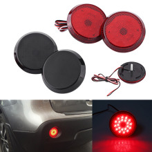 6.8cm Car LED Tail Rear Bumper Reflector Light Fog Brake Stop Lamp For Toyota Corolla(China)