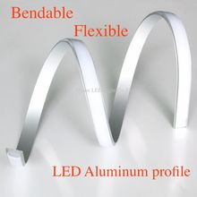 40m (20pcs) a lot, 2m per piece, Bendable Flexible Anodized diffuse cover aluminium led lighting profile(China)