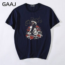 Men T Shirts Fashion Short sleeve Snake skull flower T-shirts For Man 3XL Brand Clothing High Quality Clothes Tops Tees Tees Mal