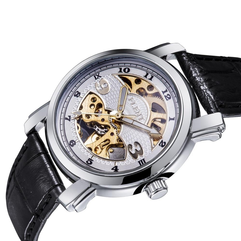 2017 Men Automatic Watch, Fashion Skeleton Watch, Leather Strap Mechanical Wrist Watch<br><br>Aliexpress
