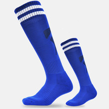 2017 Kids Adults Stripped Sports Football Soccer Long Socks Boys Men Baseball Basketball Breathable Anti-slip High Soccer Socks