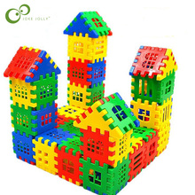 24pcs/lot Baby Paradise House spelling puzzle plastic blocks City DIY Creative Model Figures Educational Kids Toys LYQ(China)