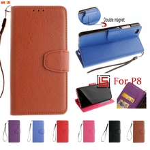 LELOZI Best PU Leather Leathe Lether Flip Wallet Phone Cell Case carcasa capinha shell Cover For Huawei Hawei Huawai P8 P 8(China)
