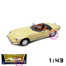 Packaged in Box 1/43 Scale 1971 Jaguar E-Type Diecast Car Models Collections Gifts Green and Yellow