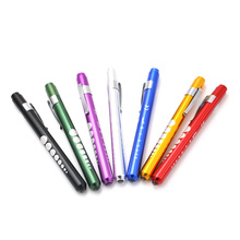 Doctors clinical pen light LED flashlight  mouth ear care inspection lamp medical pen light using 2 AAA batteries 135*10mm