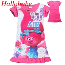 Baby Dresses Girl Nightgown Trolls Party Girls Dress Summer Kids Dresses Girls Clothes Children's Pajamas Vestidos SYHB731002