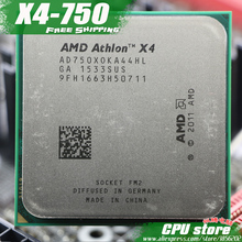 Free shipping AMD X4 750 Quad-Core FM2 3.4GHz 4MB 65W CPU processor pieces X4-750 (working 100%) 750 ,there are, sell X4 760(China)