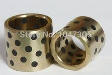 Buy JDB 101430 oilless impregnated graphite brass bushing straight copper type, solid self lubricant Embedded bronze Bearing bush