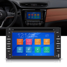 "Universal 6.2"" 2 Din Car DVD USB SD Player GPS Navigation Bluetooth Radio Audio Multimedia Car-Styling"