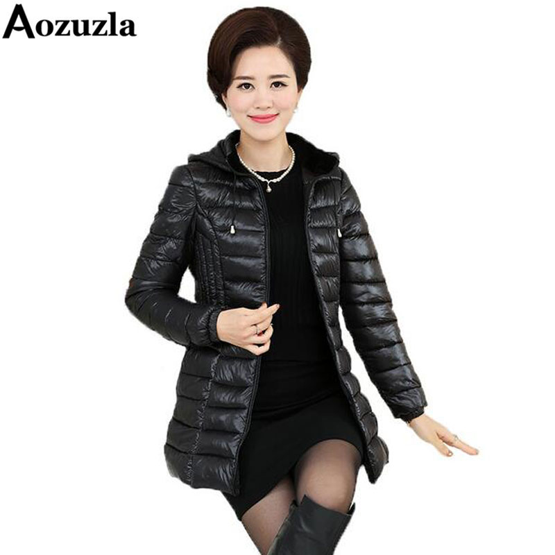 Winter Women Long Parka Coat Cotton Padded Slim Wadded Solid Hooded Jacket Parkas Plus Size 5XL Warm Outerwear Women Jackets Одежда и ак�е��уары<br><br><br>Aliexpress