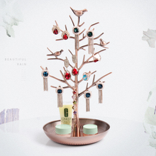 new fashion Retro copper  Earring Ring Jewelry Tree Stand Display Organizer Holder Show Rack