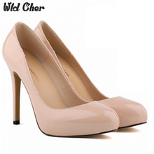 Wld Cher Big Size 35-42 2017 New Fashion High Heels Women Pumps Thin Heel Classic White Red Nede Beige Sexy Prom Wedding Shoes