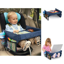 Multifunctional Baby Kids Toddler Car Seat Play Tray Table Waterproof On The Go Snack Tray Easy to clean Automobile Laptop Stand