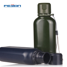 FEIJIAN My Sports Water Bottle Stainless Steel Drink Bottle Food Jar Super Durable Military Canteen Wide Mouth Flask 700mL 24Oz(China)