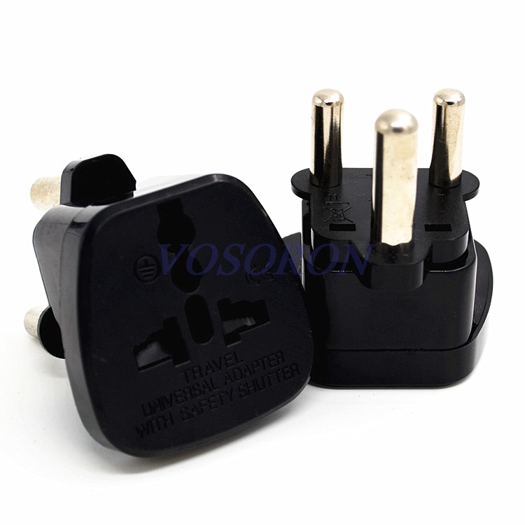10pcs/lot White Universal US UK EU to Big South Africa Travel Wall AC Power Charger Outlet Adapter Socket Converter transform