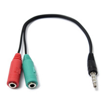 New 3.5mm Stereo Headphone Microphone Audio Y Splitter Cable Adapter Plug Jack Cord(China)
