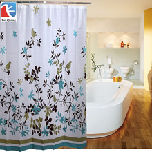 Feiqiong PEVA Bathroom Shower Curtains Water Proof Bath Curtain Coffee Tree Pattern 180X180CM Europe Modern Type High Quality(China)