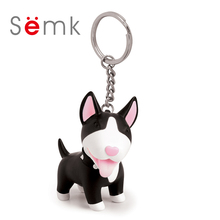 Semk Dog Key chain Action Figure Toys Collectible Vinyl Dolls PVC Pendant Keyring on the bag Car Keychain Dog Series Torri(China)