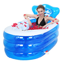 Portable bath adult bathtub plastic inflatable bath tub adults folding inflavel inflatable SPA 160cm*90cm*75cm Foot Air Pump(China)