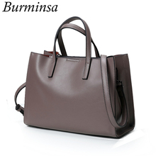 Burminsa Brand Real Genuine Leather Bags Women's Bucket Designer Handbags High Quality Shoulder Messenger Bags Dollar Price 2017