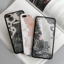 Luxury Sexy Lace Floral Henna Mandala Palace Flowers Phone Case For iphone 5s Cover For iphone 5s 5 SE 6 6s 6Plus 7 8 Plus