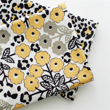 2 Pieces Lot VB Cotton Fabric Flowers 50*50cm Crafts Screens For Patchwork Leopard Print Black White Handmade Kid Dress Quilting