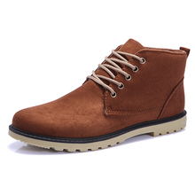 New Fashion Men Boots Leather Suede Male Casual Shoes Men Ankle Boots Breathable High Quality Men Boots shoes High-top