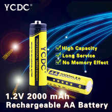 +High Power+AA 2000 mAh Pre/Stay Charge Ni-MH Cells Rechargeable Batteries Ultra high energy density,long lasting current output