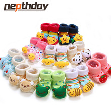 8 Style Lovely Cute Newborn Baby Socks Animal Cartoon Doll Infant Socks Model Anti-slip Boys Girls Socks