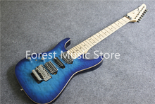 Hot Selling China Left Handed 7 String Anderson Electric Guitar With Blue Quilted Finish For Sale(China)