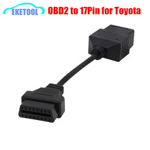 Top Rated OBD1 Toyota 17Pin to OBD2 16Pin Female OBD Extension Cable Connector Auto Car Diagnostic Adapter Toyota 17 Pin(China)