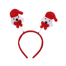 New Novelty Christmas LED Light Hair Band Headband Reindeer Party Holiday HOT Xmas Decoration Christmas Headband(China)