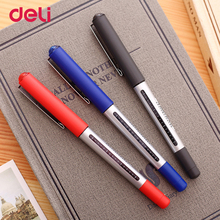 Deli high quality 6 pcs 3 colored ink gel pens for writing school office stationery supply ink visible 0.5 mm business sign pens(China)
