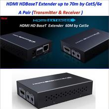 1pcs/Lot, Up to 70M/229Ft, Real 4K*2K 3D 1080P HDBaseT HDMI IR Remote LAN Extender Repeater over RJ45 Cat5e/Cat6,Free shipping