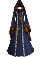 Renaissance Medieval Cotton Costume Pirate Boho Peasant Wench Victorian Ruffles Novelty Dress