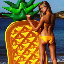 185CM Gaint Pineapple Inflatable Mattress Pool Float Toy Raft Beach Sunbath Mat Air Swimming Ring Circle Buoy Water Party Toys