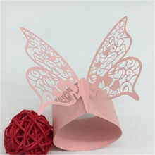 Wedding Supplies 100pcs Pearlescent Paper Butterfly Napkin Rings Weddings Party Serviette Table Decoration Towel Buckle 7ZSH094
