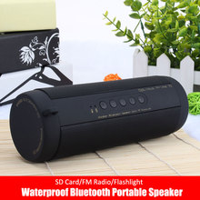 Bluetooth Speaker Stereo Portable Wireless Water Proof Super Bass Sound Box Support SD Card USB Radio Big Power kalonki with Led(China)