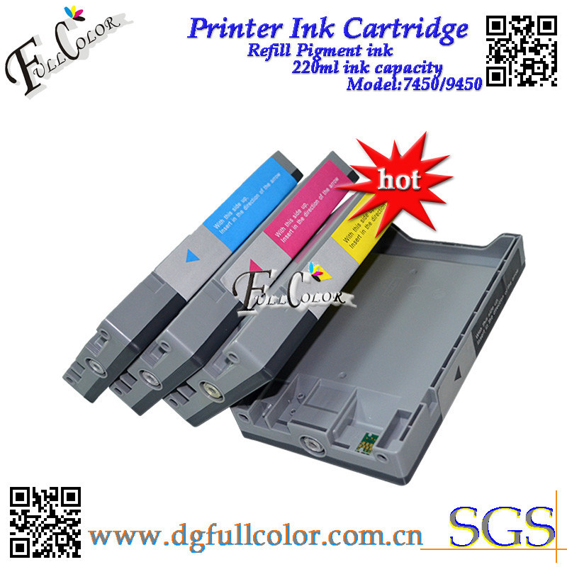 Hot sales compatible T6128 ink cartridge with pigment ink and chip for epson stylus pro 9450 printer ink cartridge<br><br>Aliexpress