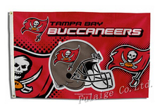 Tampa Bay Buccaneers Helmet NFL Premium Team Football Flag hot sell goods 3X5FT 150X90CM Banner brass metal holes(China)
