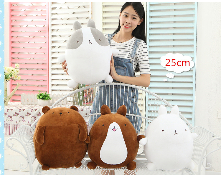 Kawaii 1pcs 25cm korea rabbit molang potatoes bear plush toy doll female girls gifts molang rabbit plush toy Animals teddy bear <br><br>Aliexpress