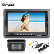 "CARCHET Car Parking System Kit 7"" TFT LCD RearView Monitor 18 LED  IR Night Version Backup Rear View Camera Wireless Receiver"